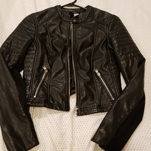 Faux lether moto jacket